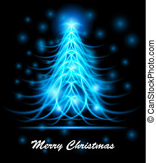 Modern abstract christmas tree, eps 10 - Modern abstract...