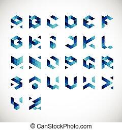 Alphabet-Geometric Style