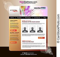 Modern Abstract Colorful Website Business Template