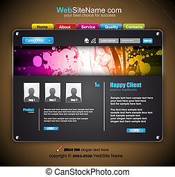 Modern Abstract Colrful Website Template