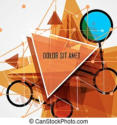 Modern abstract geometrical triangle design template