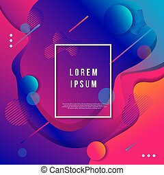 Modern abstract geometry background template