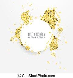 Modern Abstract Gold Vector Design