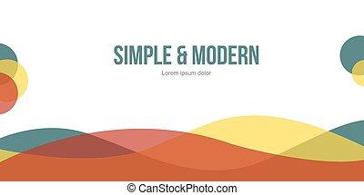 Modern abstract header website design