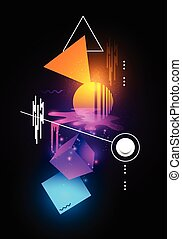 Modern Abstract illustration - Abstract modern background...