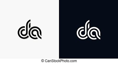 Modern Abstract Initial letter DA logo. This icon ...