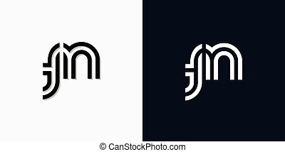 Modern Abstract Initial letter TN logo. This icon incorporate with two abstract typeface in the creative way.It will be suitable for which company or brand name start those initial.
