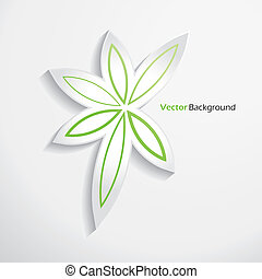 Modern abstract leaves design template. Vector illustration