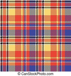 Modern abstract madras plaid seamless pattern. Vector ...