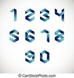 Number Alphabet-Geometric Style