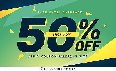 modern abstract offer discount advertising banner design template