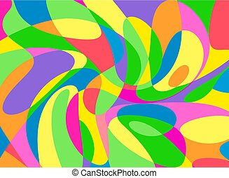 Modern Abstract Painting Wall Art Vector Illustration