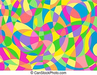 Modern Abstract Painting Wall Art Vector Illustration