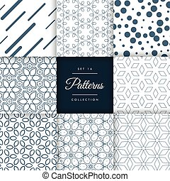 modern abstract pattern design collection vector background