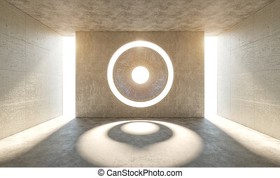 modern abstract room