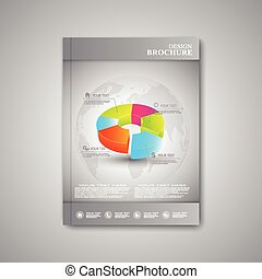 Modern abstract template layout  brochure, magazine, flyer, booklet, cover or report in A4 size for your design . Vector Illustration