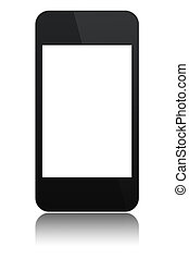 modern abstract touchscreen phone isolated