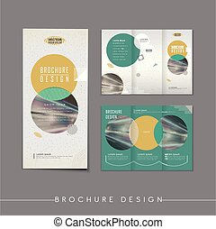 modern abstract tri-fold brochure template design