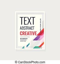 modern abstract vector banner design