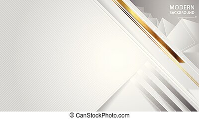 Modern abstract white overlap style background