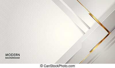 Modern abstract white overlap style background.