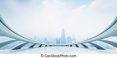 modern affär, perspektiv, begrepp, med, framtidstrogen, inre