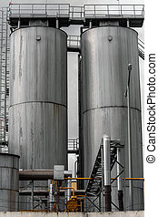 Agricultural silo outdoors - Modern Agricultural silo...