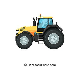 Modern agriculture tractor vector illustration