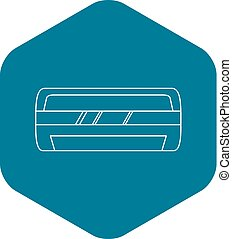 Modern air conditioner icon, outline style - Modern air...