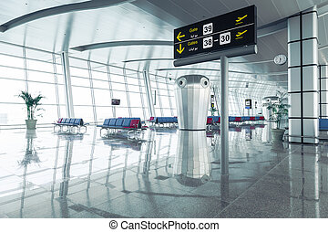 Modern Airport Departure Lounge