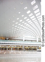 modern airport hall interior