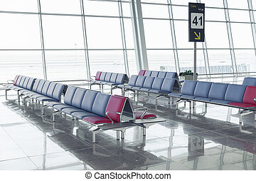 Modern Airport Lounge Seat Rows
