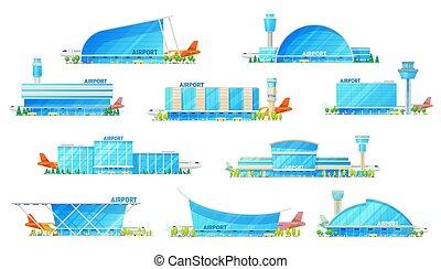 Modern airport passenger terminal building