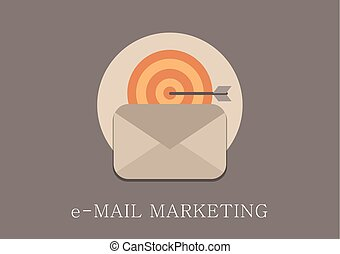 Modern and classic design email marketing concept flat icon