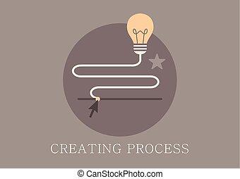 Modern and classic design idea creating process concept icon