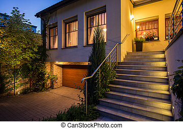Modern and illuminated facade