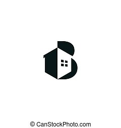 Modern and professional letter B for real estate company logo #2