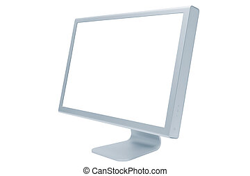 modern and thin monitor - The modern and thin monitor on a...