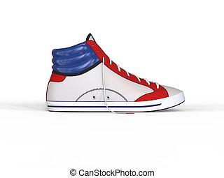 Modern ankle deep sneaker - side view