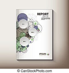 Modern Annual report Cover design vector concept - Modern...
