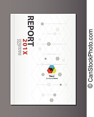 Modern Annual report Cover design vector, geometric or dna...