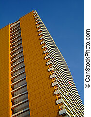 modern aparment building in east berlin