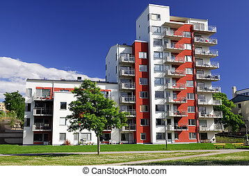 Apartment Block - Modern Apartment Block.