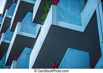 modern apartment building in Berlin, Marzahn