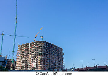 Modern apartment building under construction