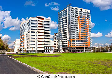 Modern apartment buildings - Beautiful view of modern ...