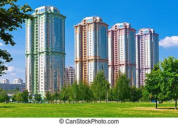 Modern apartment buildings - Beautiful view of modern ...