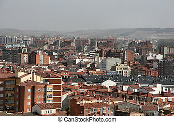Burgos - Modern apartment buildings in Burgos, Spain. ...