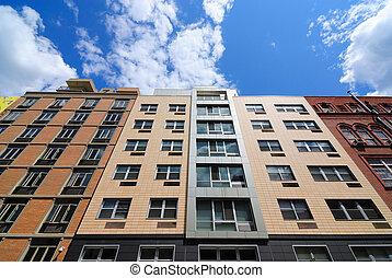 Modern Apartment Buildings - Modern apartment buildings on ...