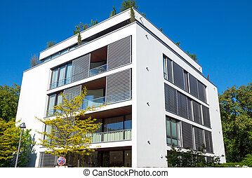 A modern apartment house seen in Berlin